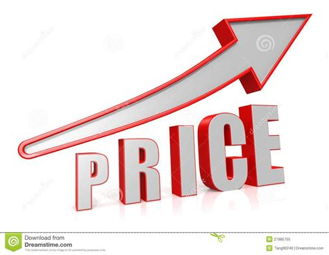symbol of growth price growth with arrow symbol stock illustration