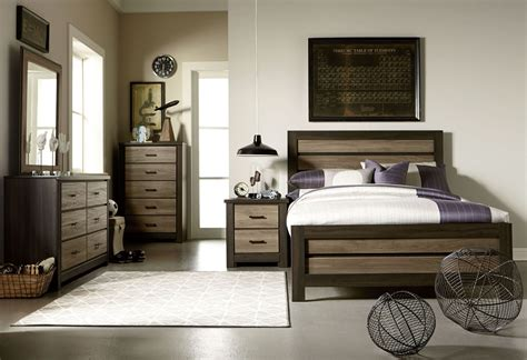 Weathered Bedroom Set by Fremont And Smoky Weathered Oak Panel Bedroom Set
