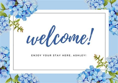 welcome card template welcome card bralicious co