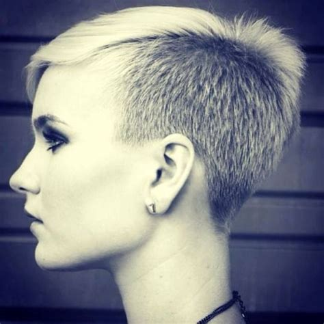 pixie haircut with a clipper asymmetric pixie with clipper cut sides nape awesome