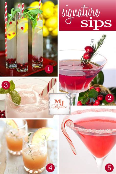 17 best images about holiday signature cocktails on