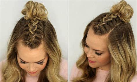 Braided Top Knots La Tendencia De Peinados Ideal Para Peinados Sencillos De Trenzas Paso A Paso