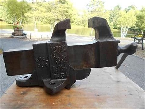 large bench vice antique vtg large prentiss bench vise no 54 5 jaws weighs