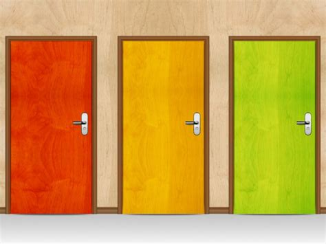 Three Doors by The Monty Problem Robotspacebrain