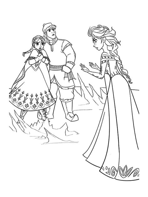 queen elsa and princess anna coloring pages queen elsa doen not mean to hurt princess anna and