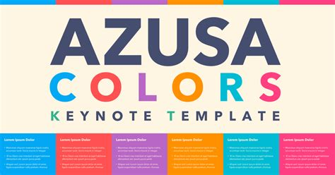 keynote theme colors azusa colors keynote theme by sanographix