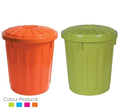 colored trash cans plastic trash can with a cover buy plastic trash can