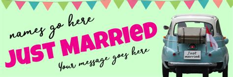 wedding banner templates for car wedding banners print a banner pvc banners for any