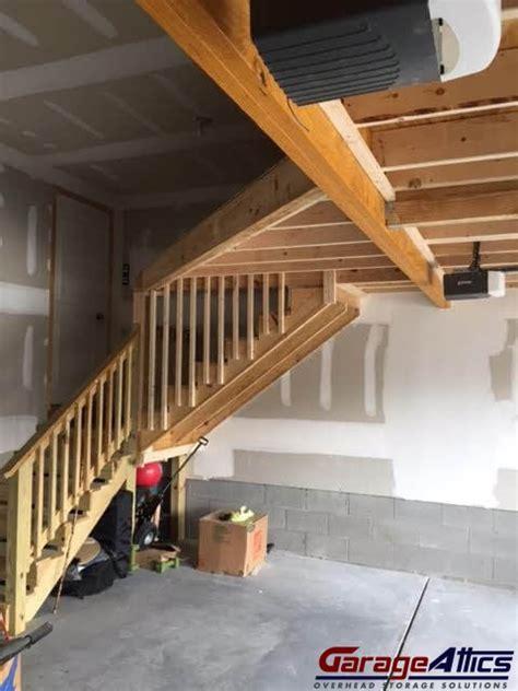 17 best images about above garage loft on pinterest 96 garage loft stairs garage sliding attic stairs 17