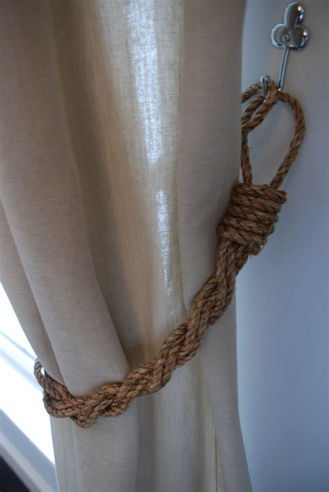rustic curtain tie backs rustic manila rope curtain tiebacks shabby chic nautical