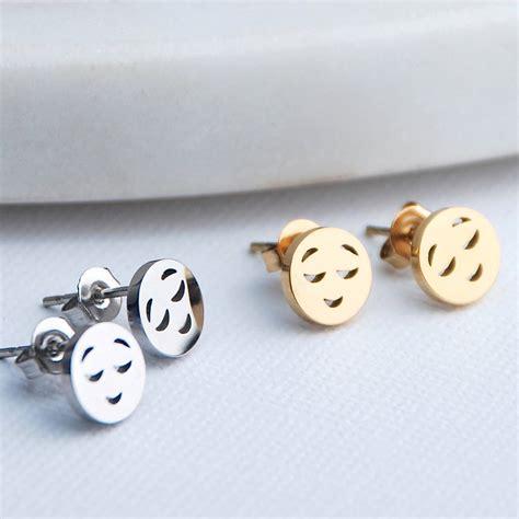 emoji earrings emoji stud earrings by penelopetom notonthehighstreet com
