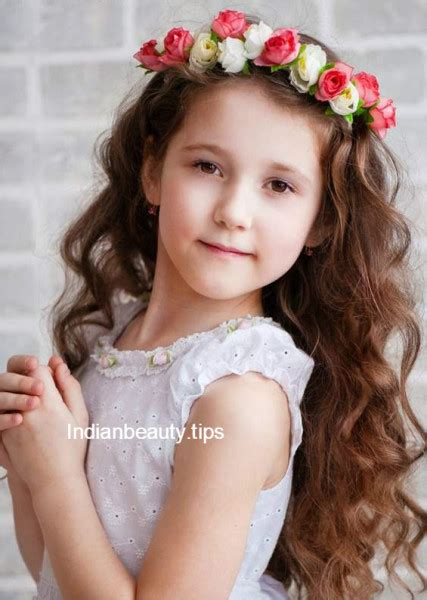 cute flower hairstyles  kids indian beauty tips