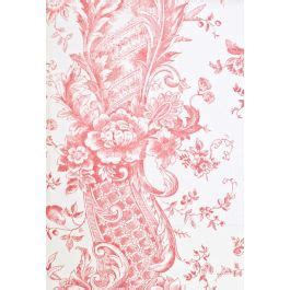 tufts and pompadour pompadour in pink toile de jouy fabric from marvic
