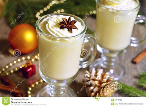 eggnog hot christmas drink stock photo image 58615760