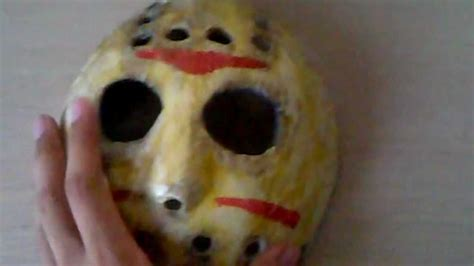 How To Make A Jason Mask Out Of Paper - jason paper mache mask friday the 13th