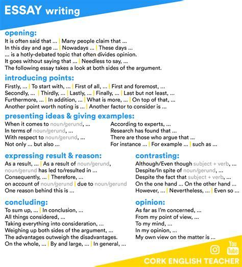 Essay Writing Skills Tips by Essay Writing Writing Vocab Grammar Language And Language