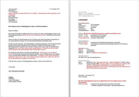 Anschreiben Bei Bewerbung Adresse Der Gro 223 E Bewerbungscheck Teil 5 Bewerbung Als Sport Und Fitnesskaufmann Ausbildung De