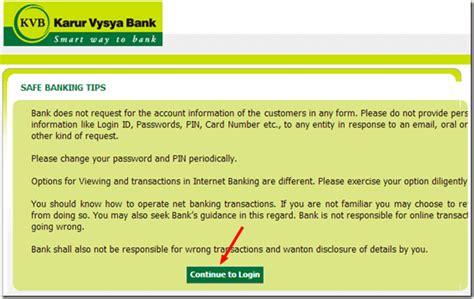 kvb bank banking kvb banking how to create an account and start