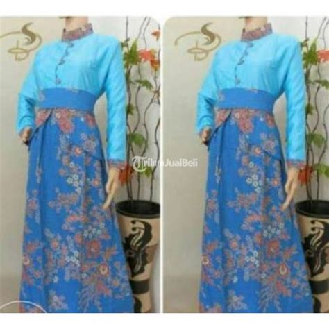 Dress Batik Davina Ll Harga Murah baju dress gamis batik muslimah cewek baru harga murah sukoharjo jateng dijual