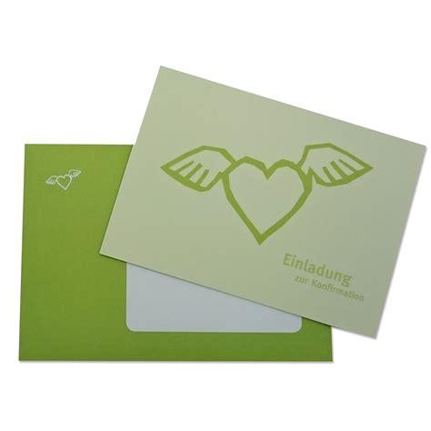 Einladungskarten Herz by Einladungskarten Zur Konfirmation Ein Herz Mit Fl 252 Geln