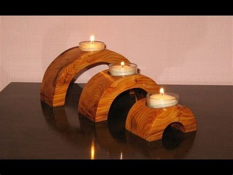 arch bridge candle holder woodworking   youtube