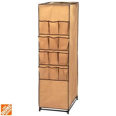 shoe storage home depot honey can do 27 in storage closet with shoe organizer wrd