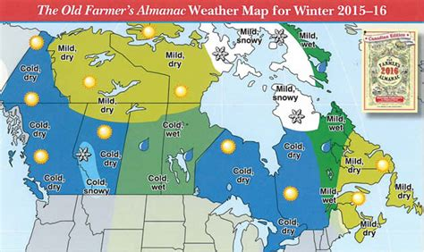 canada weather forecast map 2016 canadian winter predictions