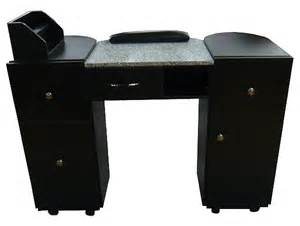 classic series nail table an912b w marble top black