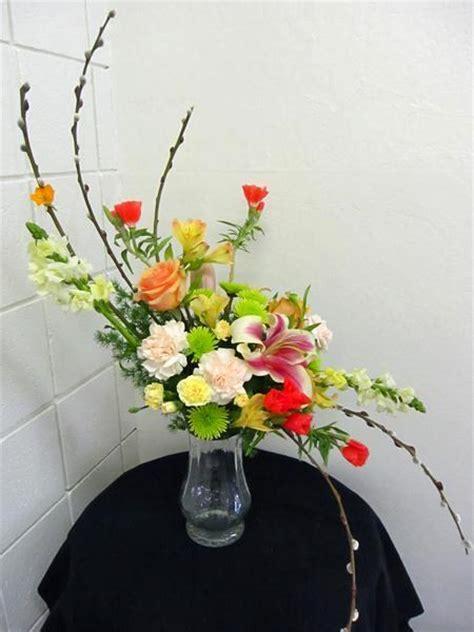 shaped arrangement california flower art academy