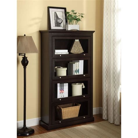 altra furniture alton alley espresso barrister bookcase