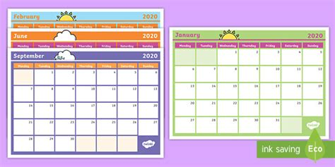 monthly australian calendar planning templates