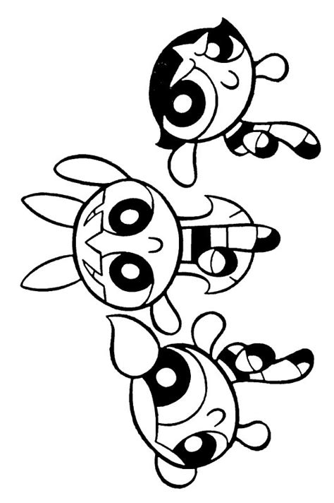 Free Powerpuff Girls Coloring Pages Power Puff Coloring Pages