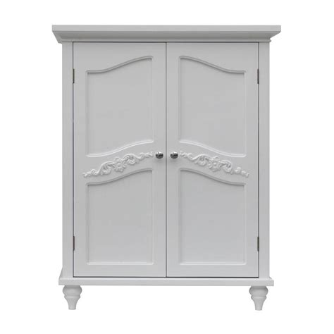 bathroom linen storage floor cabinet elegant home fashions venice 34 in h x 27 in w x 13 3 4