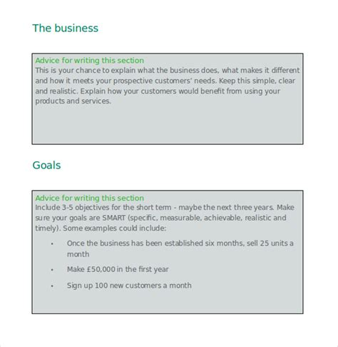 business plan templates 43 exles in word free