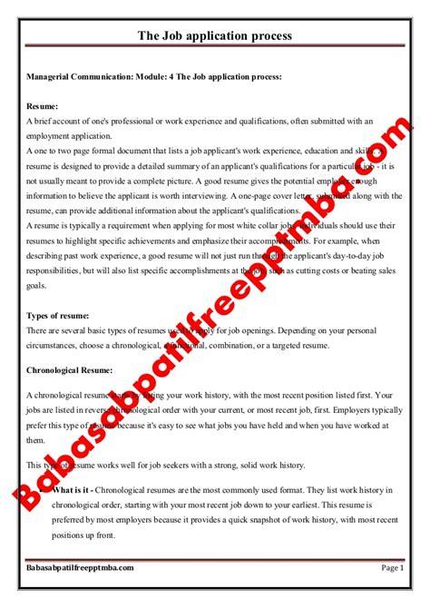 Management Communication Notes For Mba 1st Sem by Notes Managerial Communication Mod 4 The Application