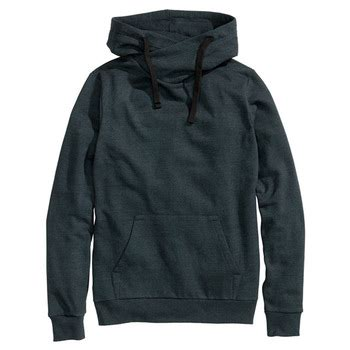 Chimney Neck Hoodie - high chimney collar sweatshirt with pocket for buy