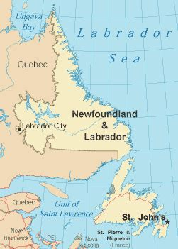 newfoundland map canada newfoundland and labrador map and travel guide