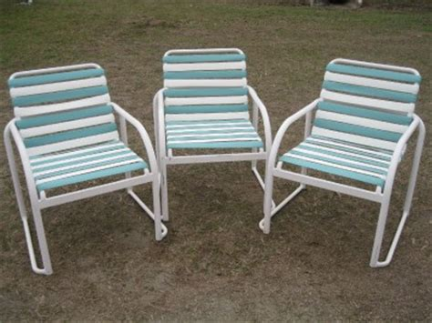 Patio Chair Webbing Poolside Patio Outdoor Chair Vinyl Webbing 90 Available Ebay