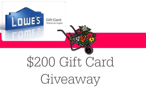 Where Can I Buy Lowes Gift Cards - lowes home improvement 200 gift card giveaway southern savers