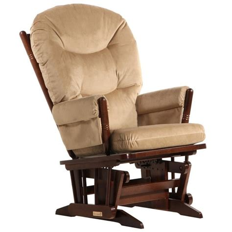 chaise dutailier dutailier 2 post glider in coffee and light brown fabric