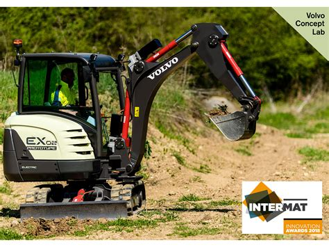 volvo global site volvo ce s fully electric compact excavator prototype wins