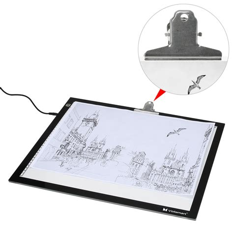 light box tracing table voilamart a2 led tracing light box stencil drawing board