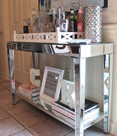 mirrored console table target target mirrored console table