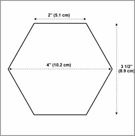 8 inch hexagon template 27 of 8 inch hexagon template printable sle 4 inch