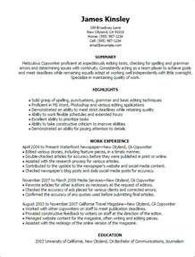 creative resume copywriter