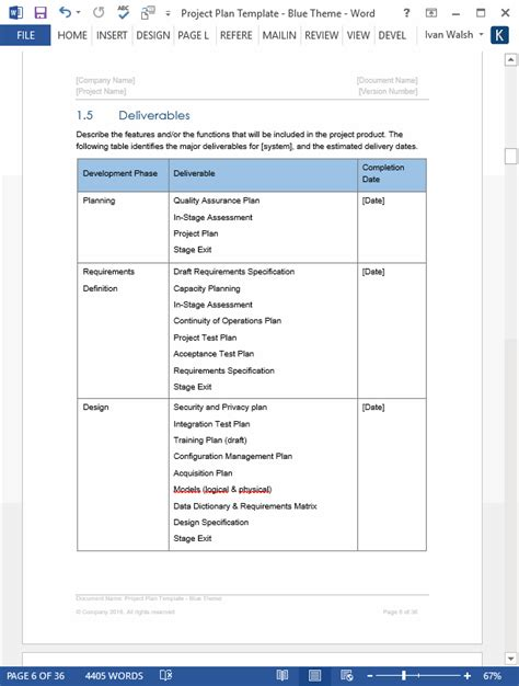 business plan proposal one page plans template word popular samples