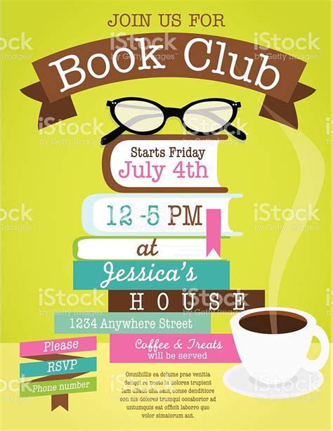 event design books retro womens book club event invitation design template