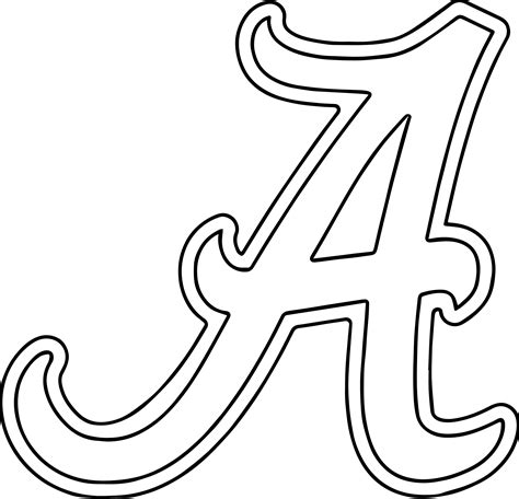University Of Alabama Coloring Pages Coloring Pages Alabama Football Coloring Pages