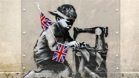 artist banksy biography artist banksy marks queen s jubilee bbc news