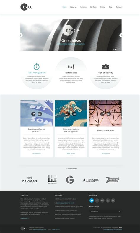 zend framework 2 3 layout trace psd template on behance i displays pinterest 웹디자인